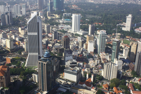 A view from the Kuala Lumpur Tower